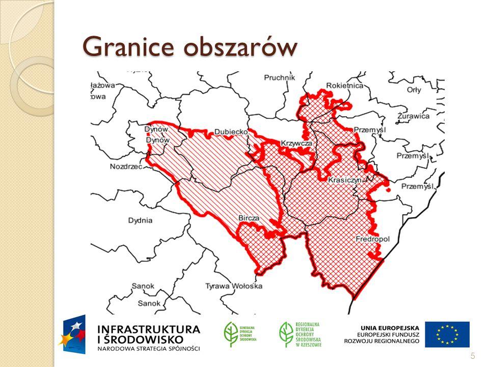 Granice obszarów