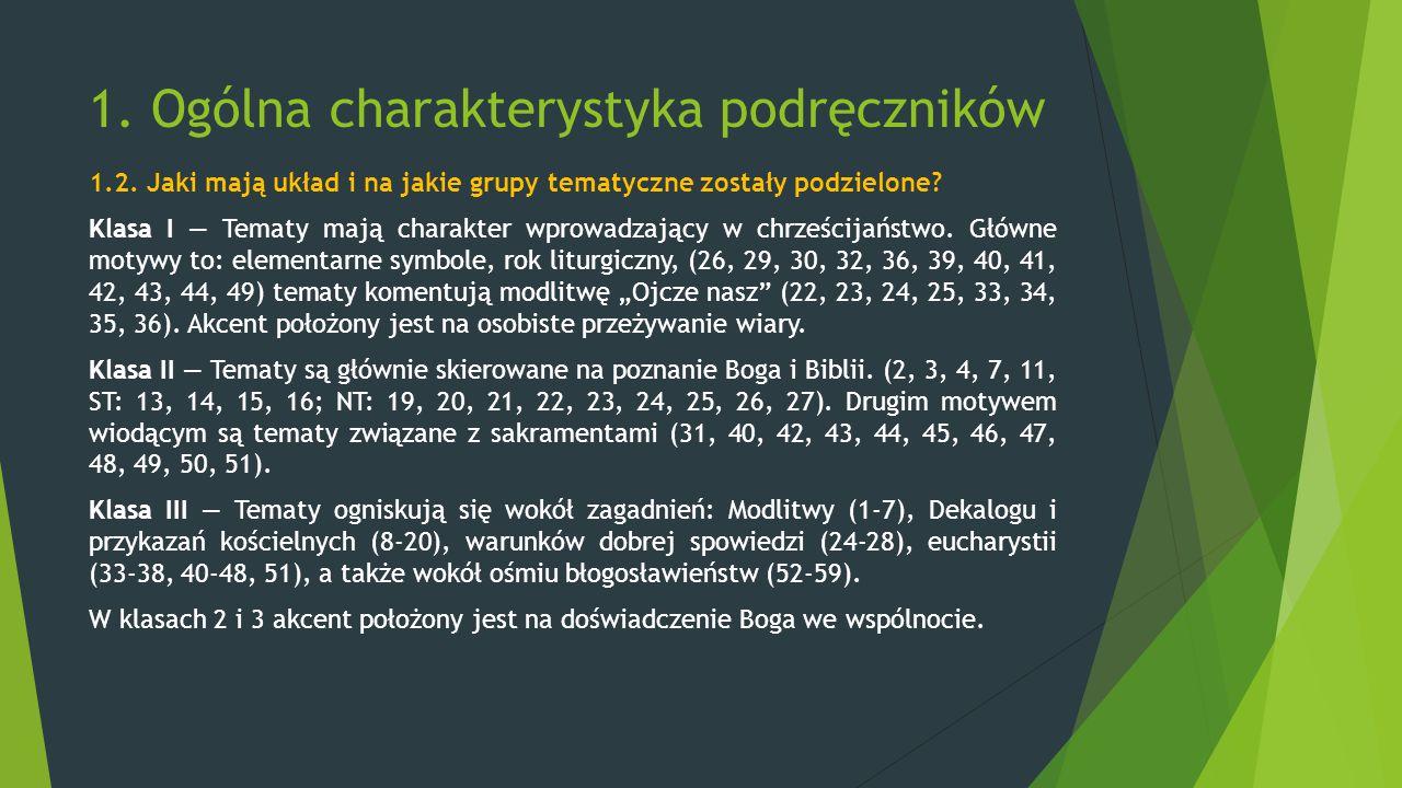 1. Ogólna charakterystyka podręczników