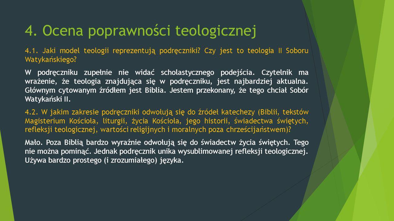 4. Ocena poprawności teologicznej