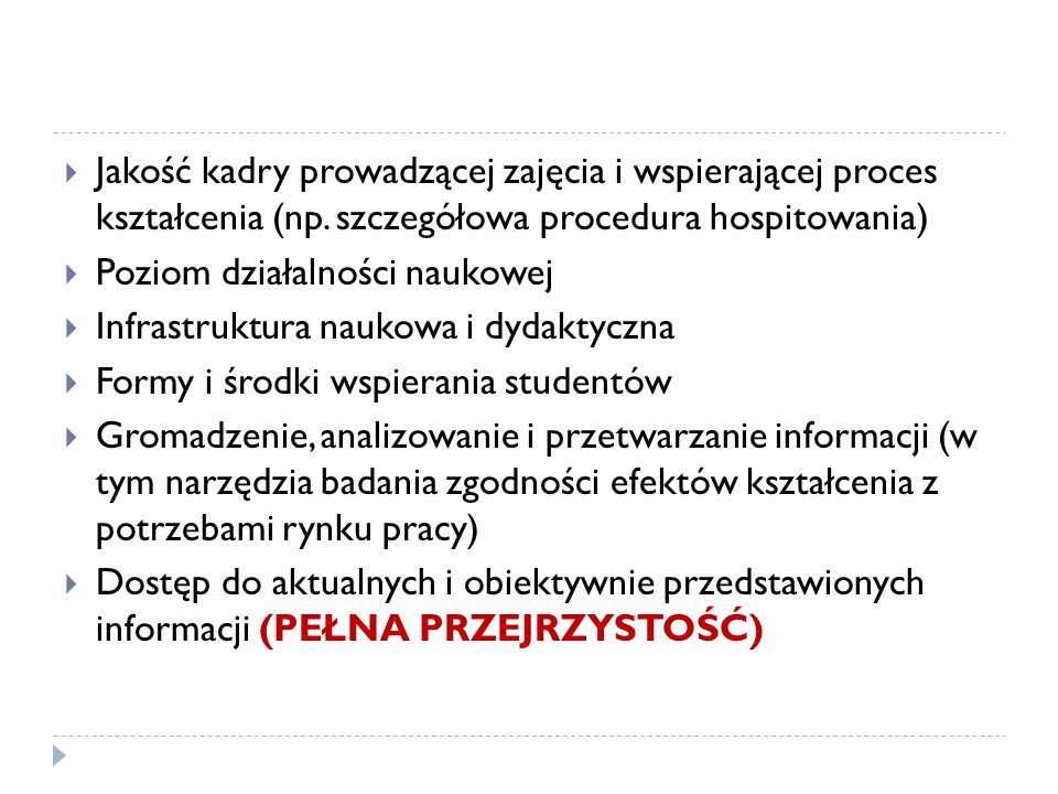 Jakość kadry prowadzącej zajęcia i wspierającej proces kształcenia (np