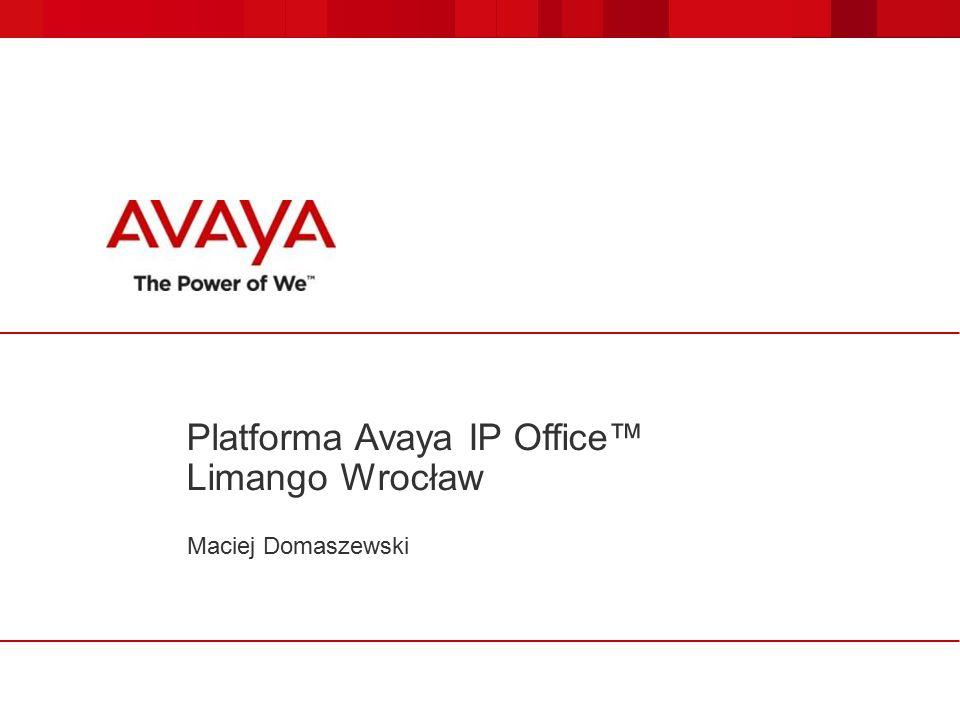 Platforma Avaya IP Office™ Limango Wrocław