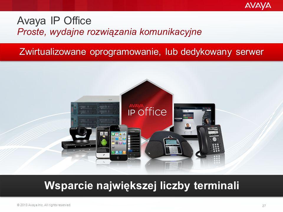 Avaya IP Office Proste, wydajne rozwiązania komunikacyjne