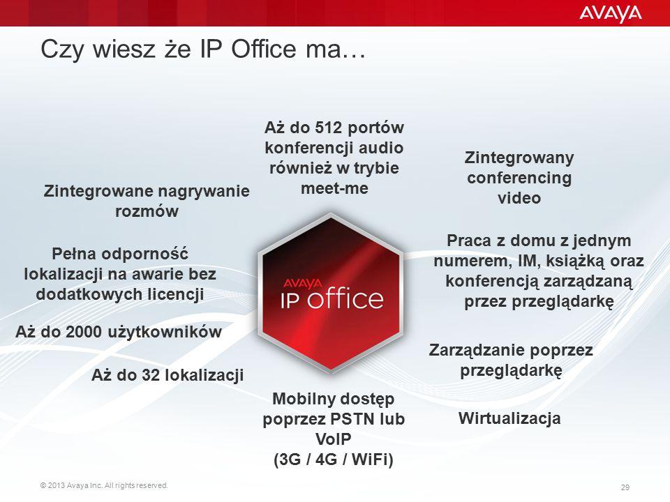 Czy wiesz że IP Office ma…
