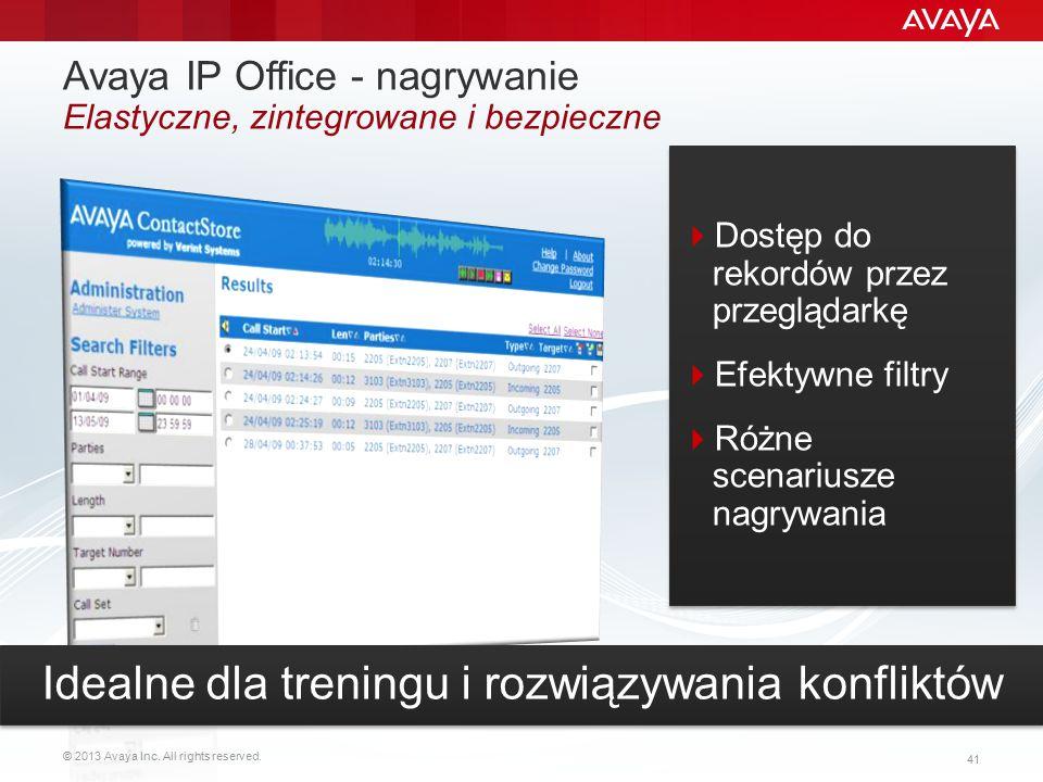 Avaya IP Office - nagrywanie Elastyczne, zintegrowane i bezpieczne