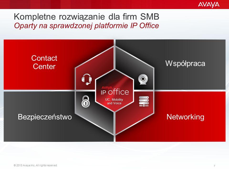 Kompletne rozwiązanie dla firm SMB Oparty na sprawdzonej platformie IP Office