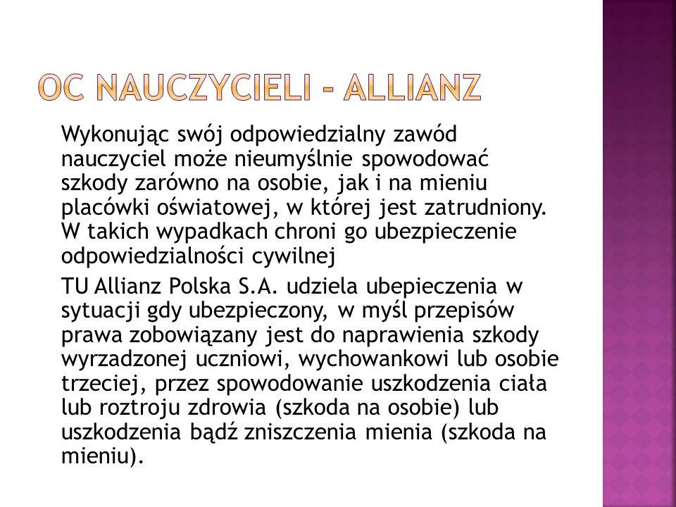 OC nauczycieli - Allianz