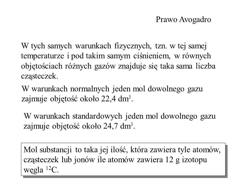 Prawo Avogadro