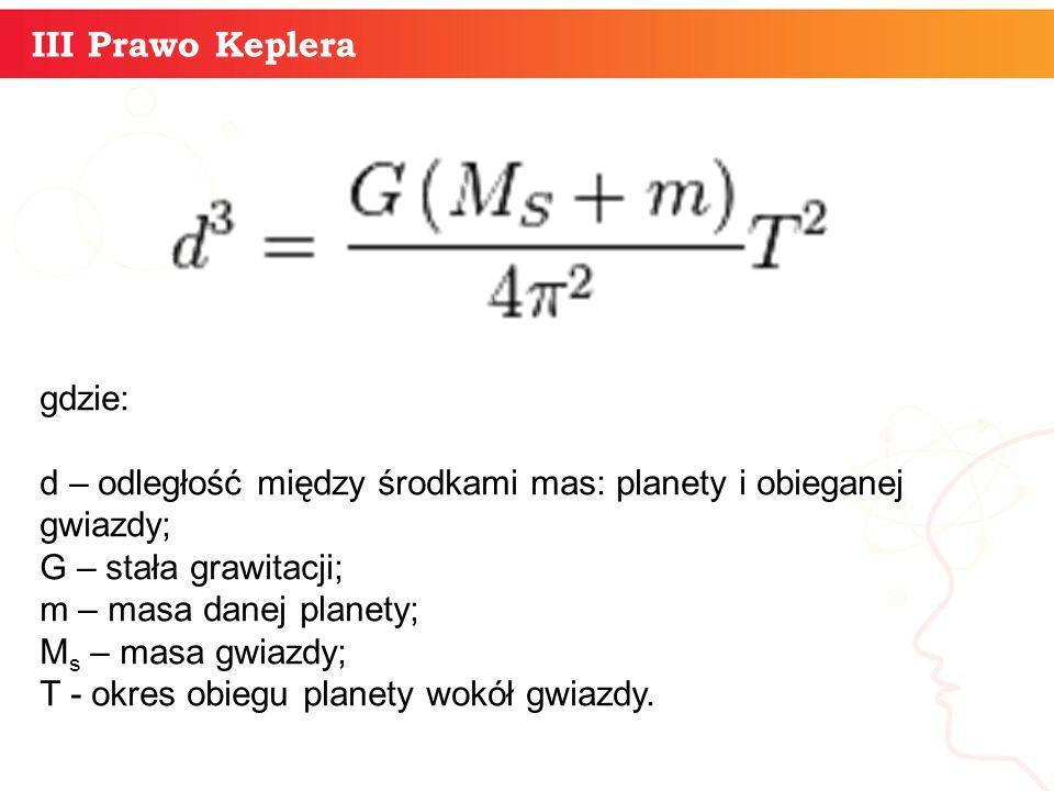 informatyka + III Prawo Keplera gdzie: