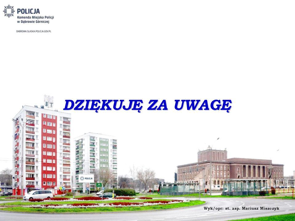 DZIĘKUJĘ ZA UWAGĘ Wyk/opr: st. asp. Mariusz Miszczyk