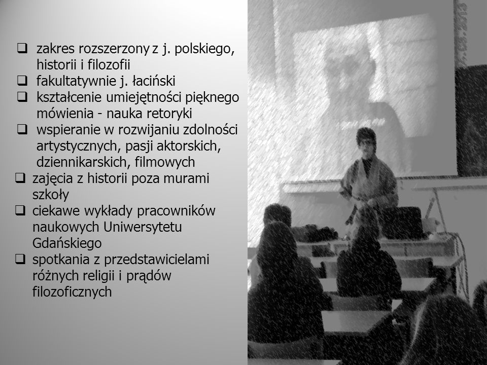 zakres rozszerzony z j. polskiego, historii i filozofii