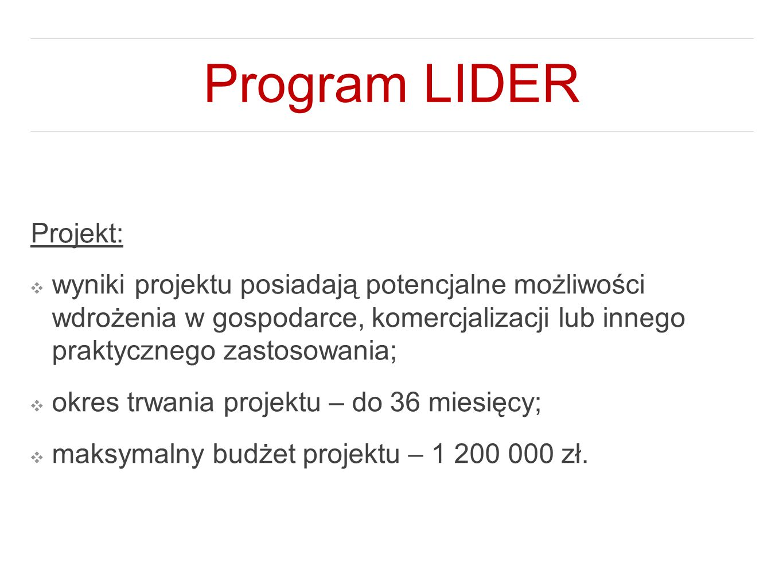 Program LIDER Projekt: