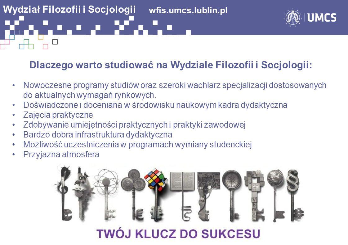 wfis.umcs.lublin.pl Wydział Filozofii i Socjologii