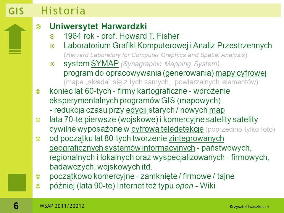 GIS Historia Uniwersytet Harwardzki 1964 rok - prof. Howard T. Fisher