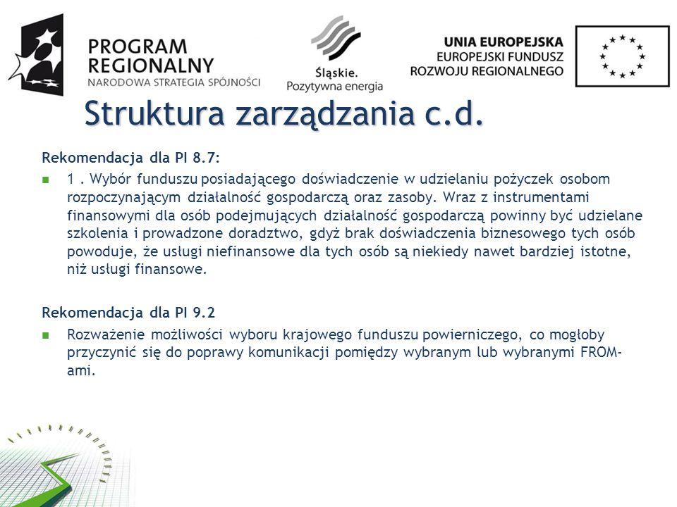 Struktura zarządzania c.d.
