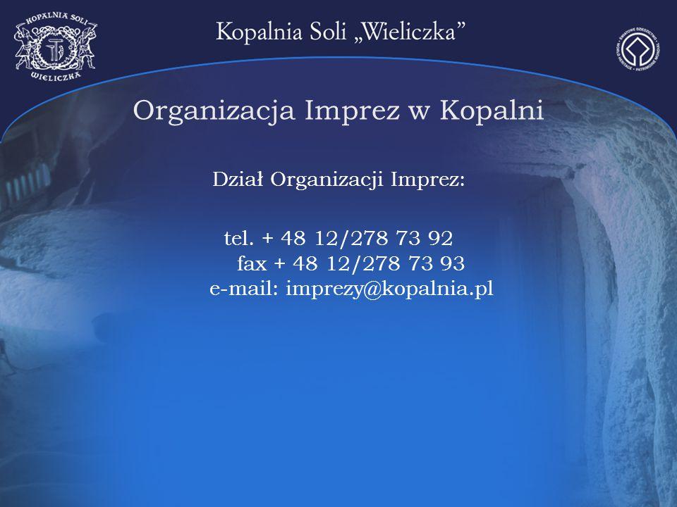 Organizacja Imprez w Kopalni
