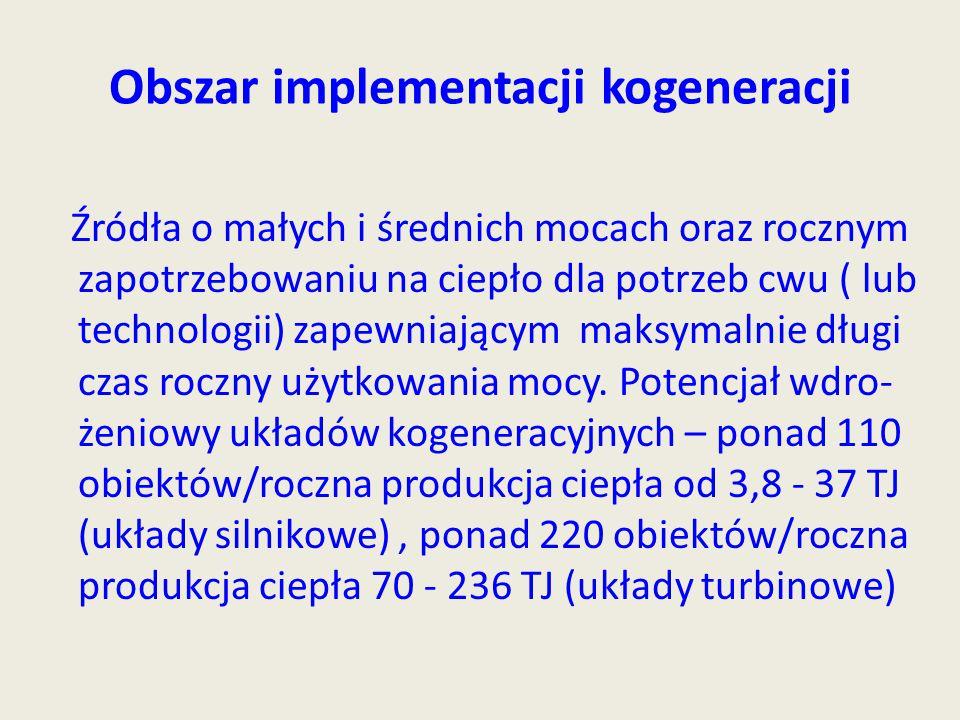 Obszar implementacji kogeneracji