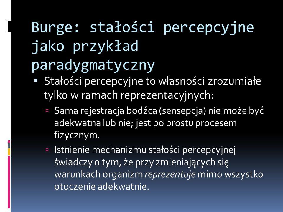Burge: stałości percepcyjne jako przykład paradygmatyczny