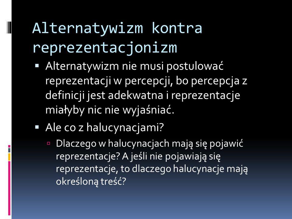 Alternatywizm kontra reprezentacjonizm