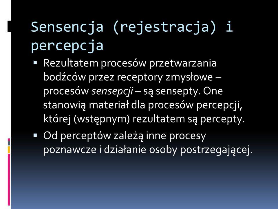 Sensencja (rejestracja) i percepcja