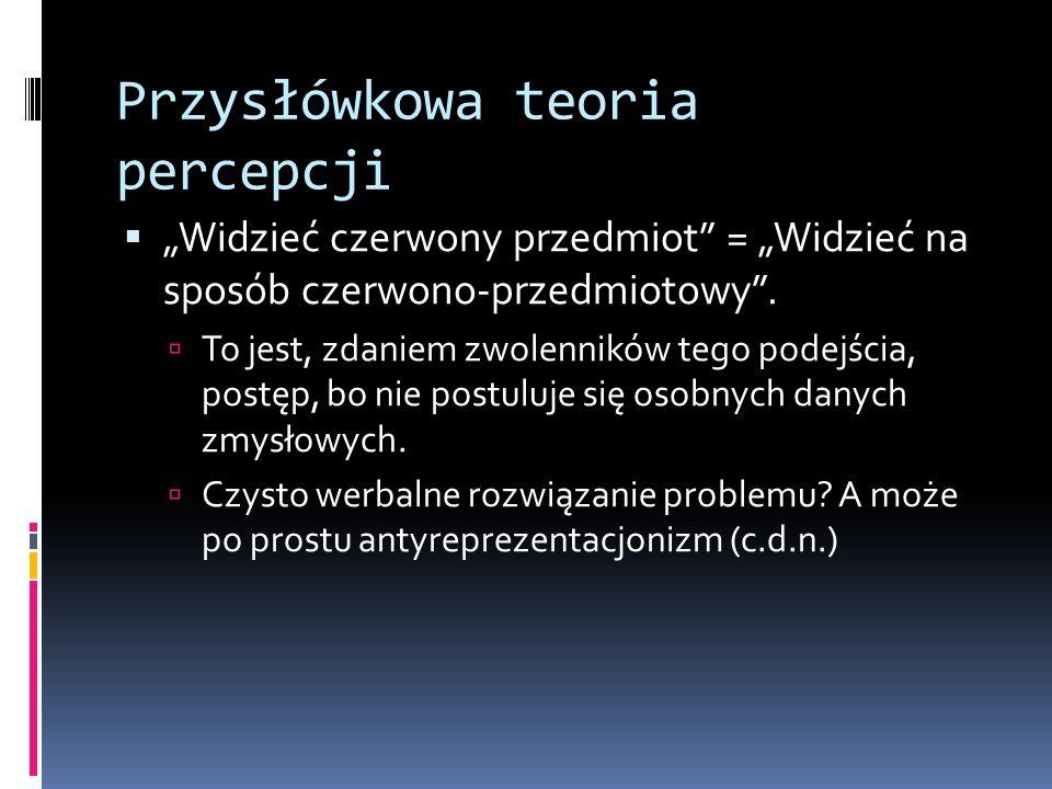 Przysłówkowa teoria percepcji
