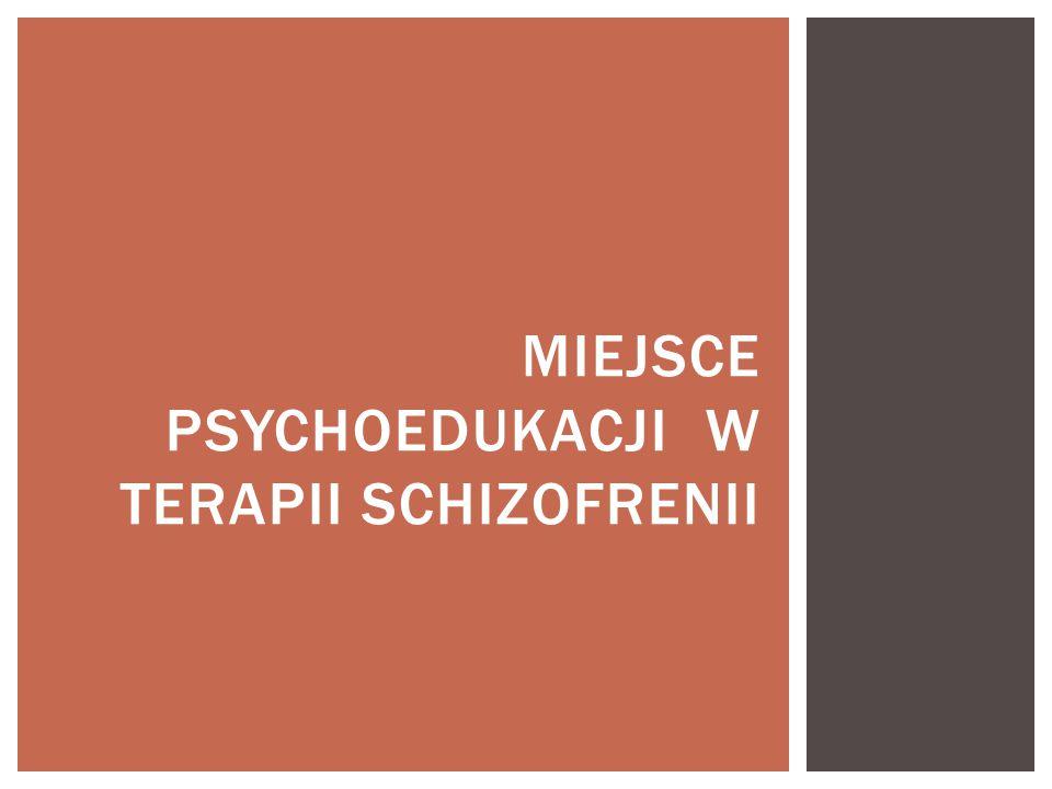Miejsce psychoedukacji w terapii schizofrenii