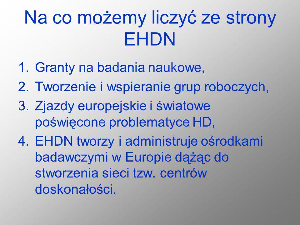 Na co możemy liczyć ze strony EHDN