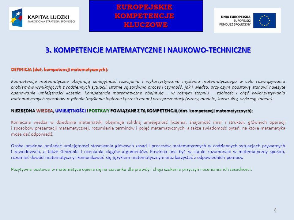 3. KOMPETENCJE MATEMATYCZNE I NAUKOWO-TECHNICZNE