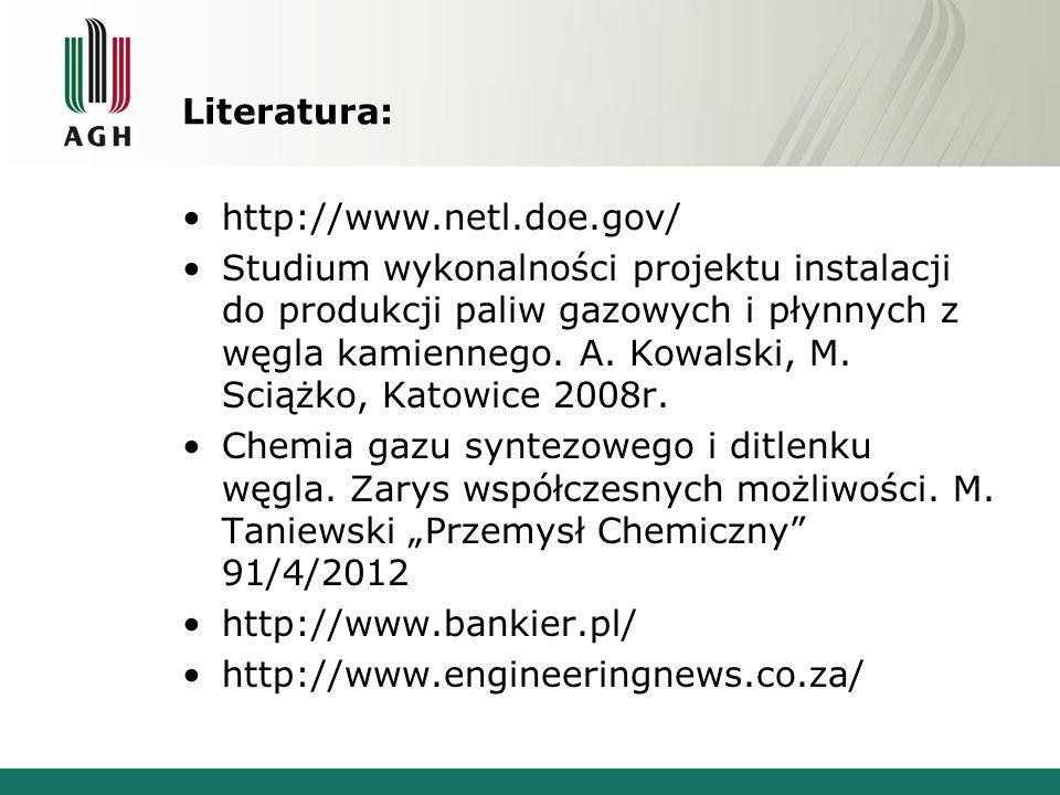 Literatura: http://www.netl.doe.gov/