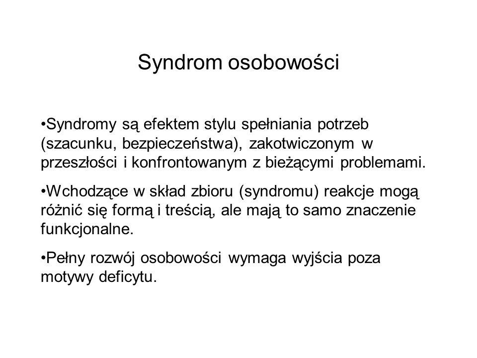 Syndrom osobowości