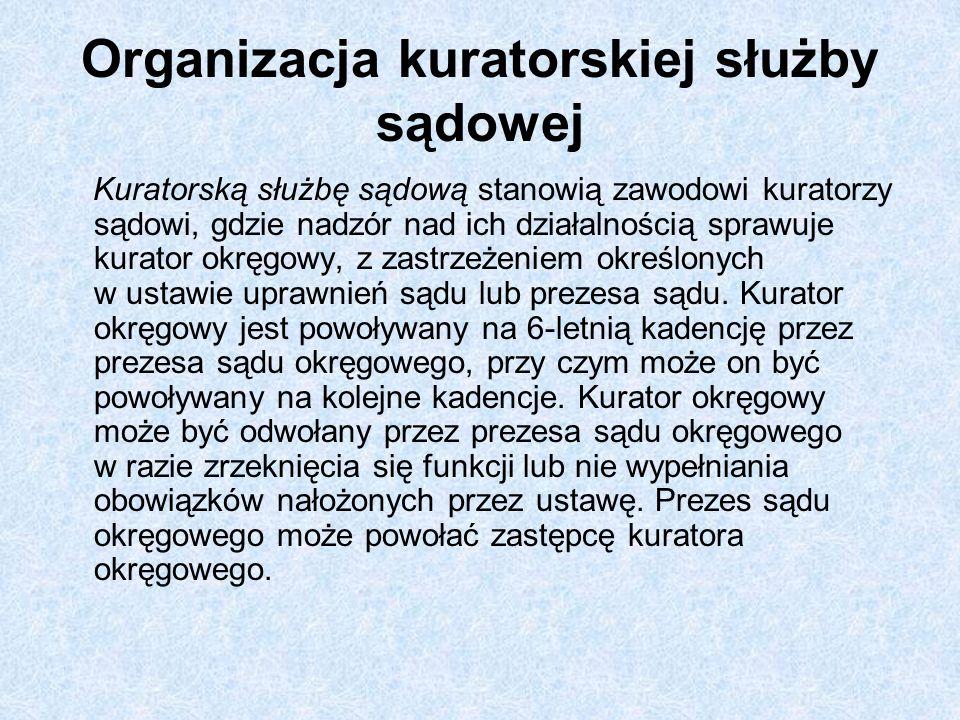 Organizacja kuratorskiej służby sądowej