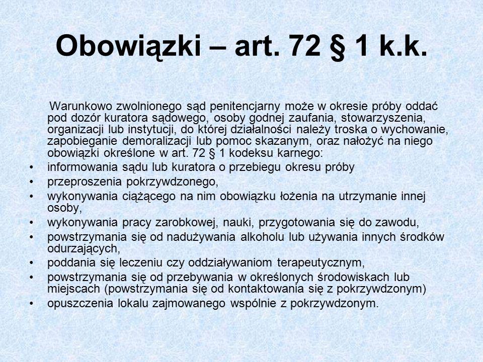Obowiązki – art. 72 § 1 k.k.