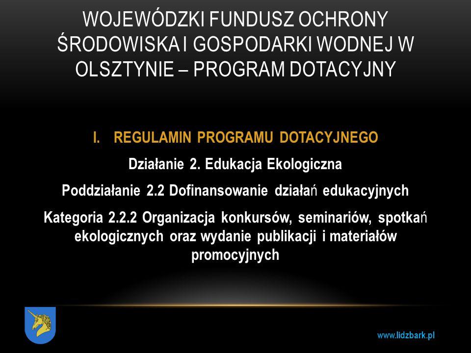 Wojewódzki Fundusz Ochrony Środowiska i Gospodarki Wodnej w Olsztynie – program dotacyjny