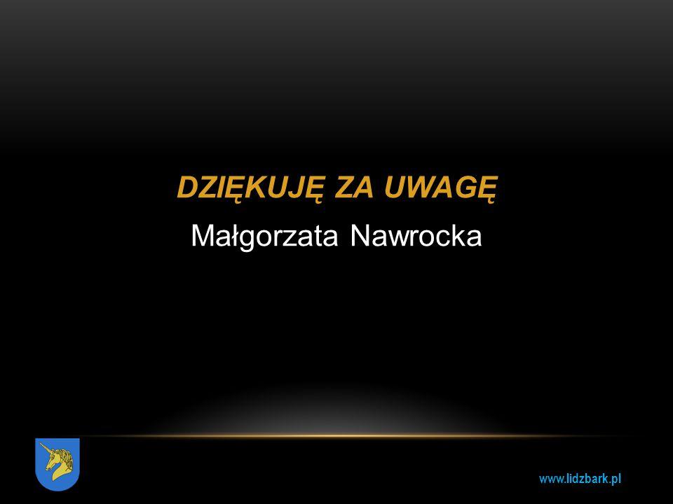 DZIĘKUJĘ ZA UWAGĘ Małgorzata Nawrocka