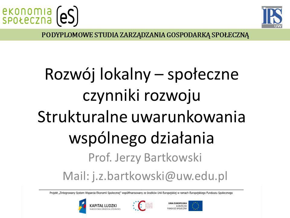 Prof. Jerzy Bartkowski Mail: j.z.bartkowski@uw.edu.pl