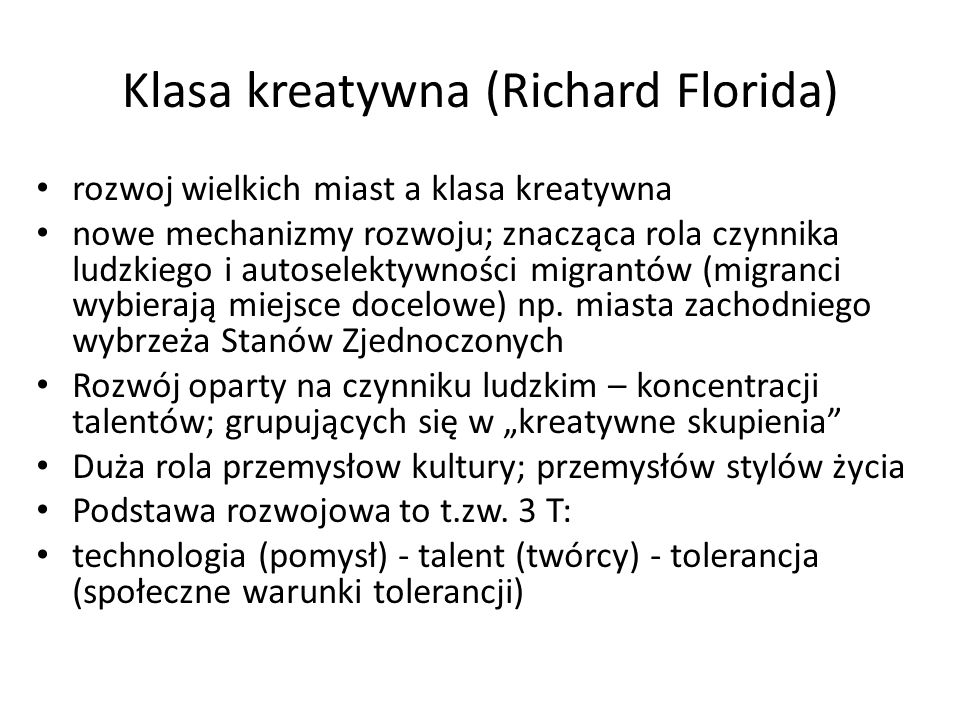 Klasa kreatywna (Richard Florida)