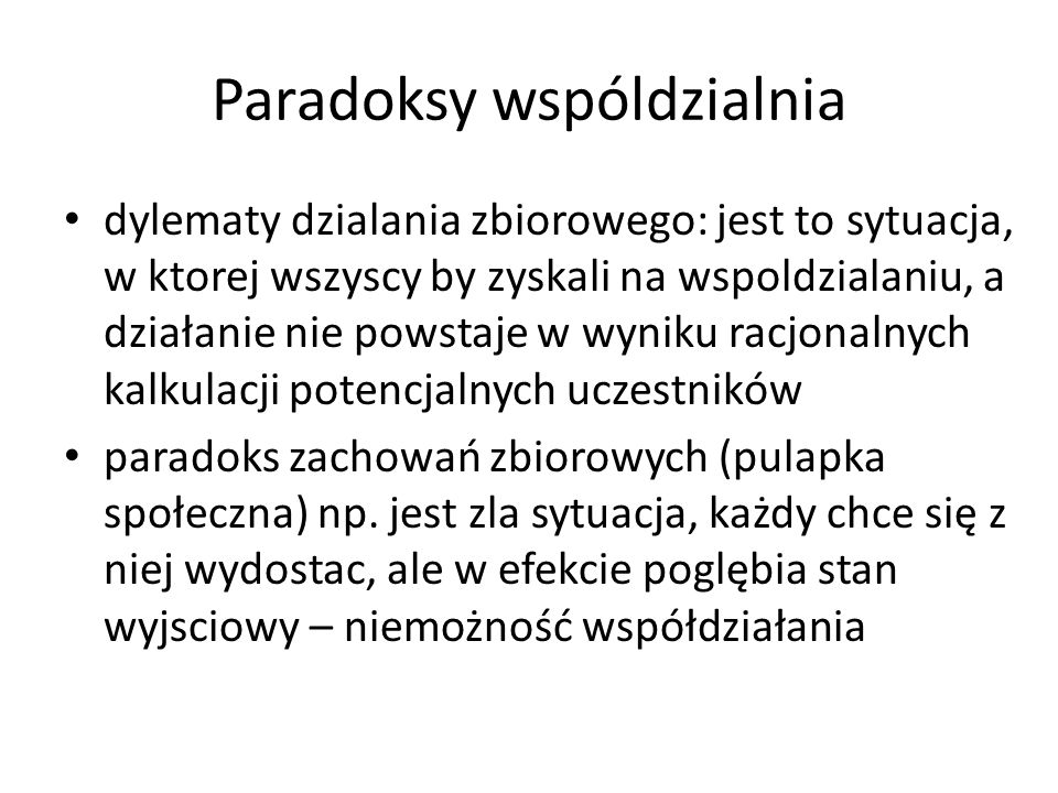 Paradoksy wspóldzialnia
