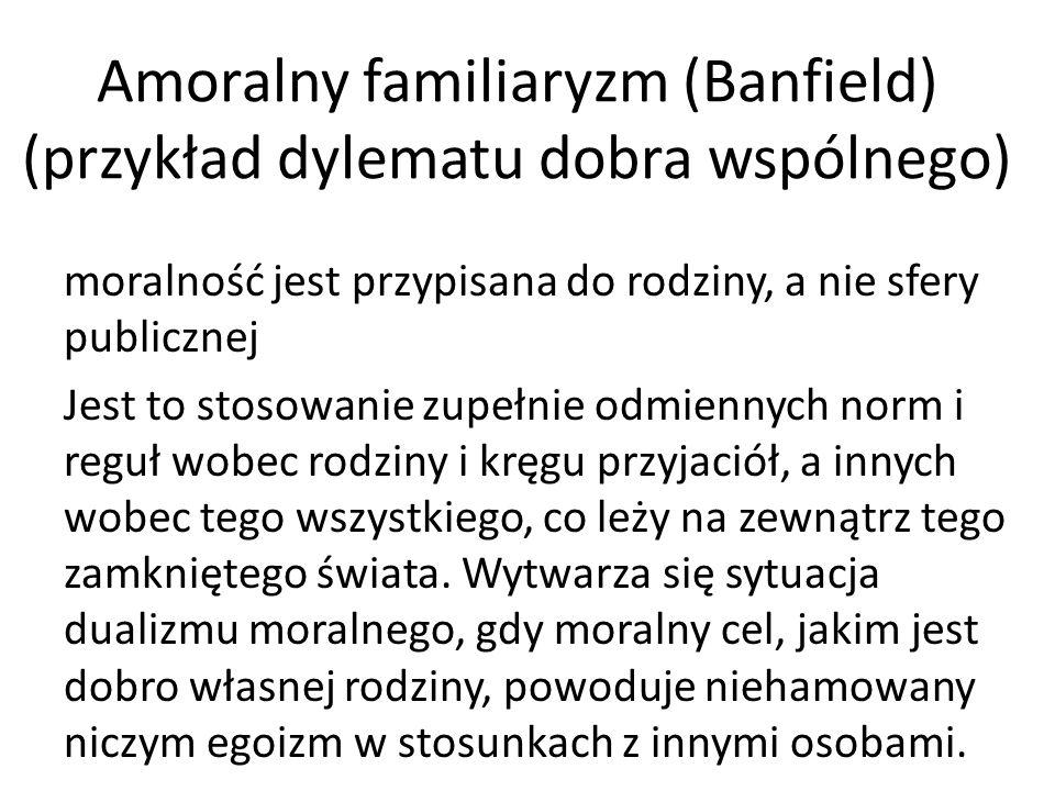 Amoralny familiaryzm (Banfield) (przykład dylematu dobra wspólnego)