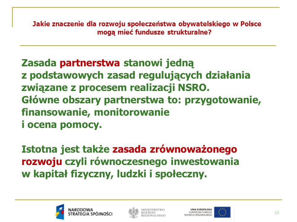 Jakie znaczenie dla rozwoju społeczeństwa obywatelskiego w Polsce mogą mieć fundusze strukturalne