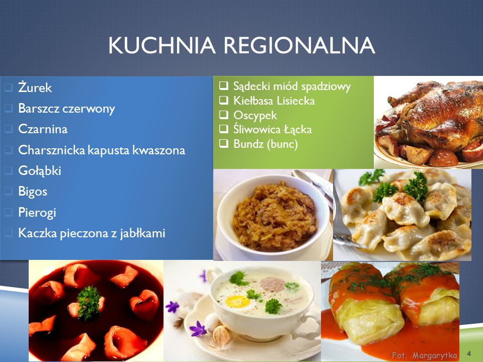 Kuchnia regionalnA Żurek Barszcz czerwony Czarnina