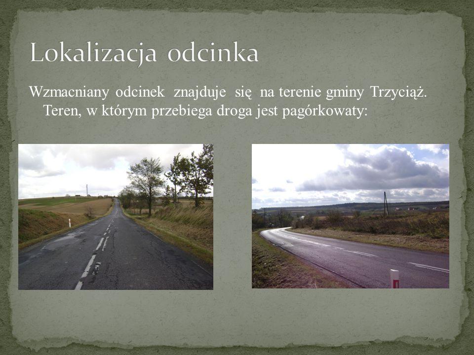 Lokalizacja odcinka Wzmacniany odcinek znajduje się na terenie gminy Trzyciąż.