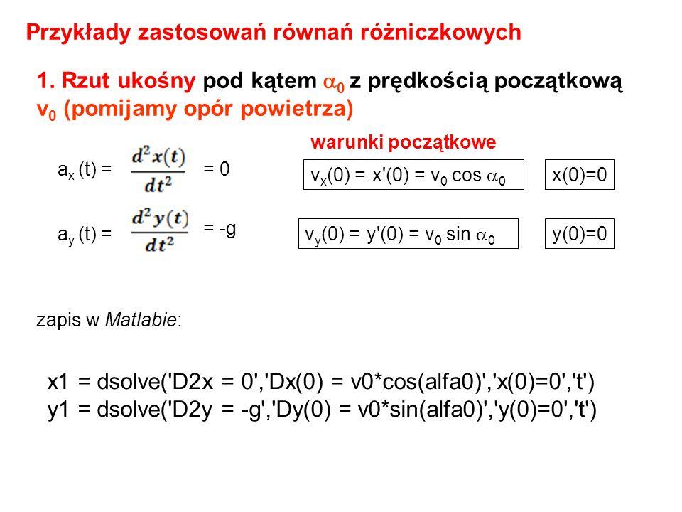 Przykłady zastosowań równań różniczkowych