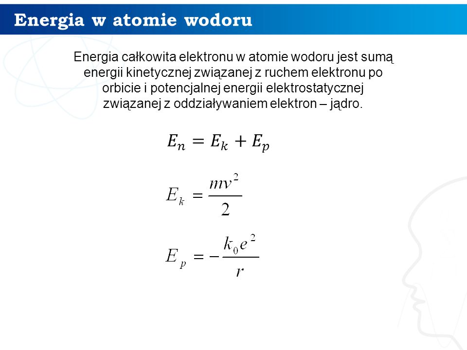 Energia w atomie wodoru