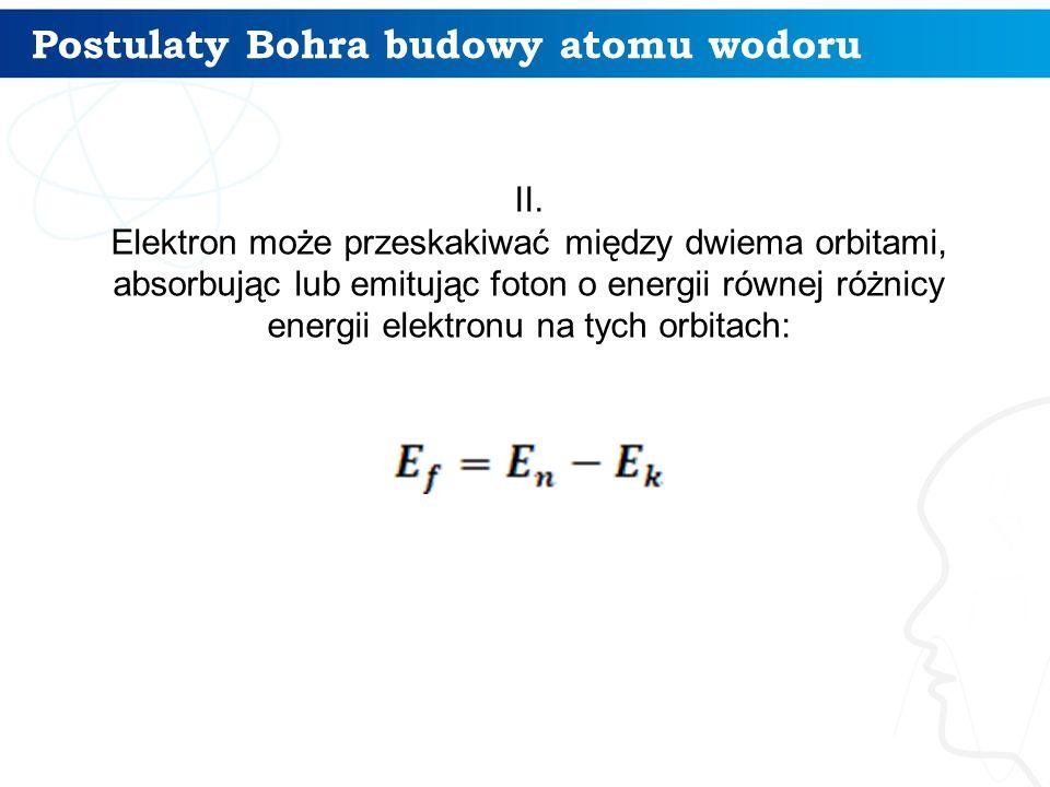 Postulaty Bohra budowy atomu wodoru