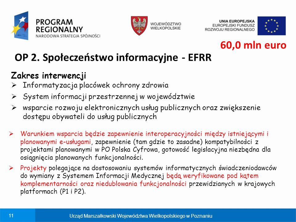 OP 2. Społeczeństwo informacyjne - EFRR