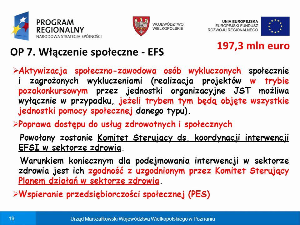 OP 7. Włączenie społeczne - EFS