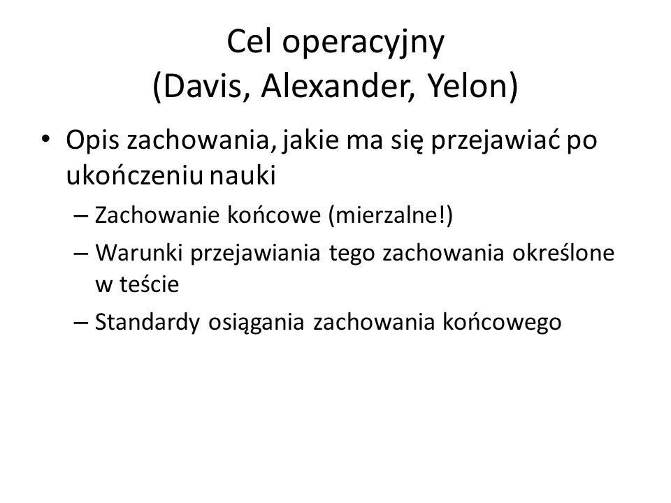 Cel operacyjny (Davis, Alexander, Yelon)