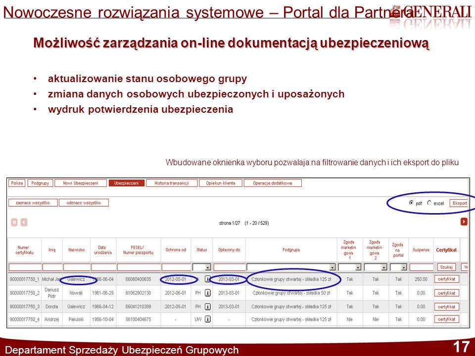 Nowoczesne rozwiązania systemowe – Portal dla Partnera
