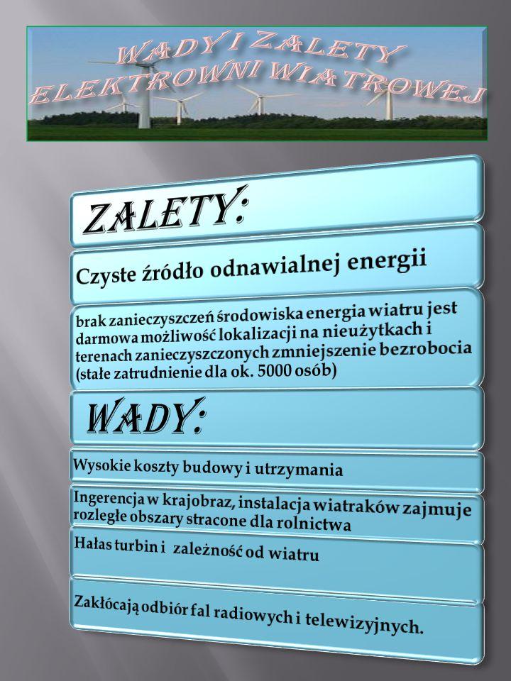 Wady i zalety elektrowni wiatrowej