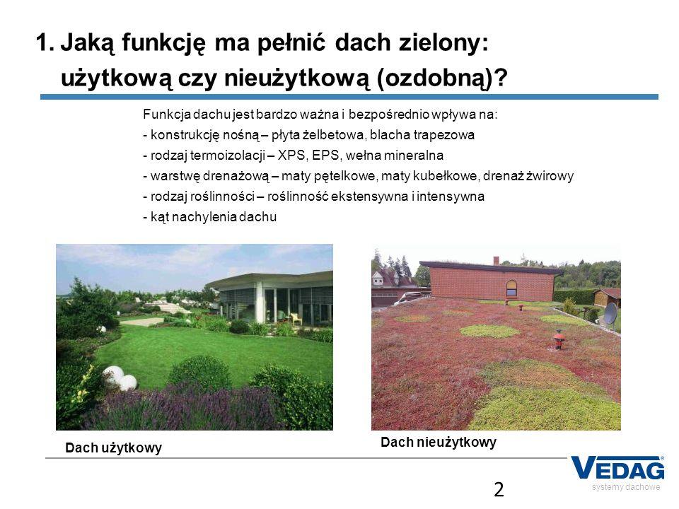 Jaką funkcję ma pełnić dach zielony: użytkową czy nieużytkową (ozdobną)