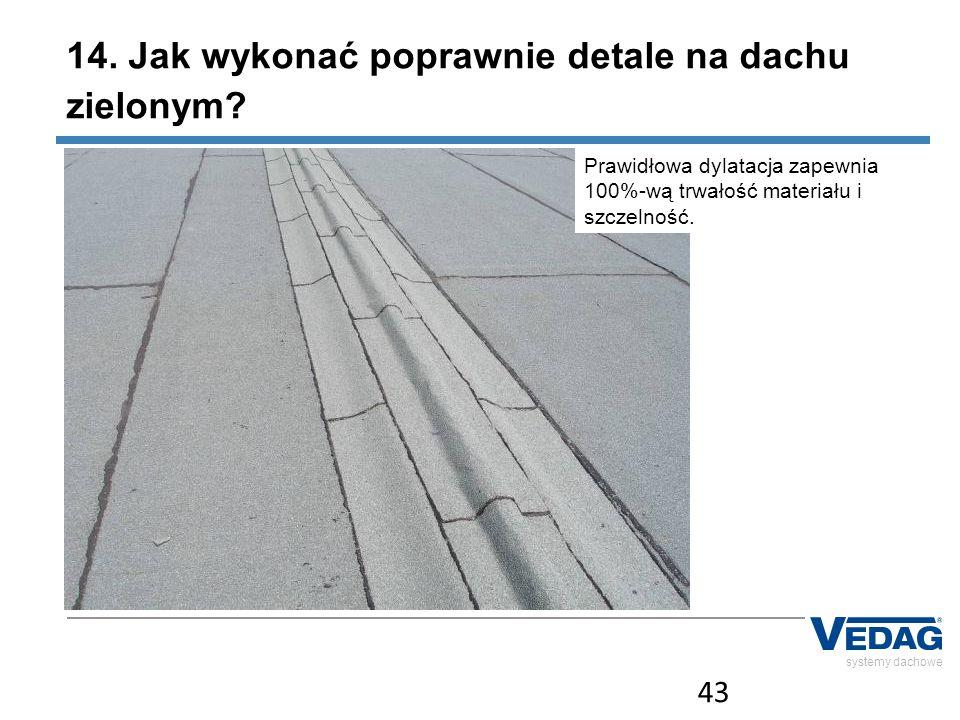 14. Jak wykonać poprawnie detale na dachu zielonym